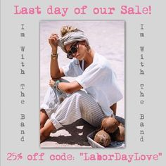 Can't always get what you want but today ya can! Last day to shop our sale  im-with-the-band.com