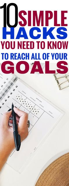 These brilliant hacks to accomplish your goals are THE BEST! I'm so glad I found these great ideas to accomplish my goals this year. Now this has given me inspiration and I can use these tips so easily to get things done this year! Pinning for sure! #goalsetting #goals