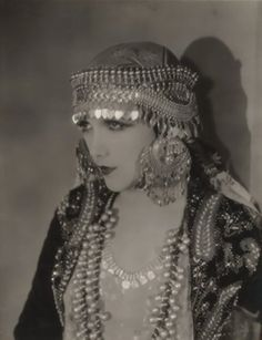 Silent film star from the 1920s Jetta Goudal.