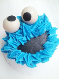 cookie monster smash cake