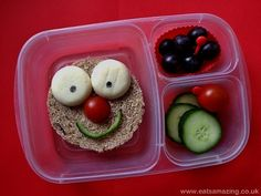 Eats Amazing - Happy Red Nose Day Lunch #EasyLunchboxes