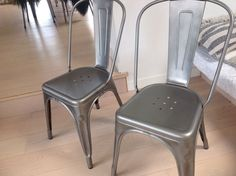 Spisebordsstol, Metal, Tolix, Sælger disse 2 skønne Tolix stole. Køber afhenter på adressen eller bekoster evt fragt
