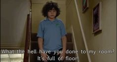Ben in Outnumbered complaining about his tidy room Funny Pics, Funny Pictures, Tidy Room, It Crowd, Tv Quotes, Big Bang Theory, My Heart Is Breaking, Best Tv, Family Life