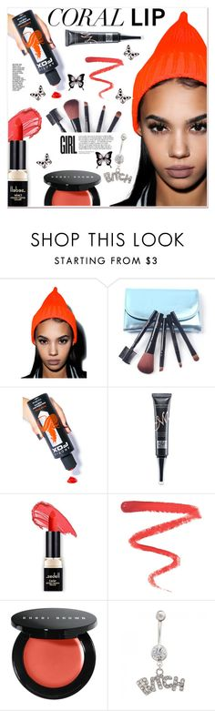 """Spring Beauty: Corals 4"" by paculi ❤ liked on Polyvore featuring beauty, Olive & Pique, Artic Fox, Ellis Faas, Bobbi Brown Cosmetics, nastydress and coolcorals"