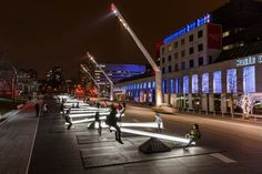 People In Montreal Are Playing On Light-Filled Seesaws This Winter