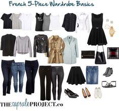 French Wardrobe Basics for your capsule wardrobe! #capsule #style #basics