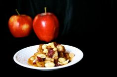 This recipe, Autumn Apple Sauté with Caramel and Nuts, was created by Brittany Rader.  #apples  #caramel