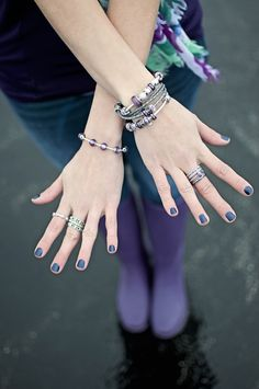 Go for a purple look this season. #PANDORAring #PANDORAbracelet