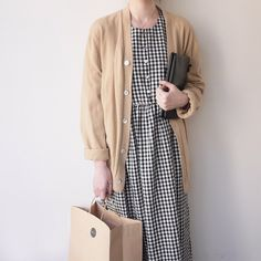 cardigan and gingham.