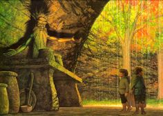 """J.R.R. Tolkien, """"The Two Towers"""" (""""Wellinghall,"""" by Ted Nasmith)"""