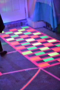 Black light party floor