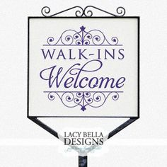 Walkins Welcome wall art decal vinyl lettering hair salon decor