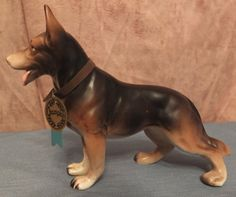 Napco German Shepard Dog Figurine With by MoonbearConnections