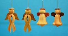 """ANG007 - ANG008     2"""" to 3 1/2""""  Angel #7 is the """"Awareness Ribbon Angel"""" and can be painted as desired. Example yellow ribbon for """"support our Troops"""" or pink ribbon for """"Breast Cancer Awareness""""."""