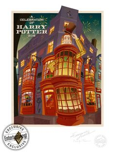 We are loving this rad poster promoting Universal Studios Celebration of Harry Potter! // poster designed by Minalima Posters Harry Potter, Harry Potter Artwork, Harry Potter Tumblr, Harry Potter Wallpaper, Harry Potter Film, Harry Potter World, Harry Potter Plakat, Casas Estilo Harry Potter, Illustrations Harry Potter