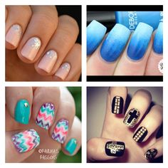 This is a collage of great beautiful nails