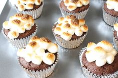 Gluten Free S'more Cupcakes