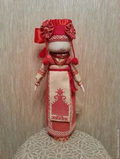 Купить Кукла-оберег. Лада. - коралловый, кукла-оберег, кукла ручной работы…