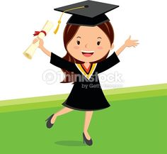 A young graduate girl holding certificate with cheerful smile.