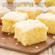 Lemon Buttermilk Sheet Cake {Sweet Pea's Kitchen}