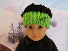18'' Doll Halloween Hat , Frankenstein Hat , Hat for 18'' Boy or Girl Dolls, Great Costume, Fun Hat , Cute Halloween Hat, Trick or Treat Hat by SewManyThingsbyNancy on Etsy