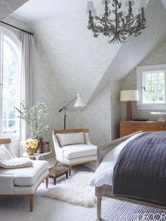 designs bedroom decor interior rooms minimalist connecticut neutral elle tour eclectic living guest wallpapers cottage fun deco flair appeal timeless