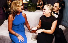 Edie Falco and Amy Poehler Nurse Jackie, Amy Poehler, Parks And Recreation, Awesome, People, Parks And Recreation Streaming, Be Awesome, People Illustration
