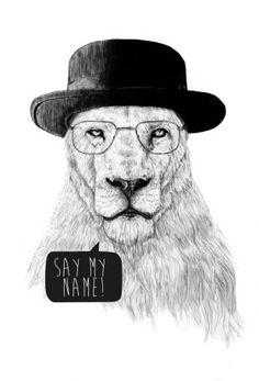 Say my name Acrylglasbild