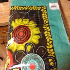 Brand new Vera Bradley towel Flower shower beach towel. With tags and in bag Vera Bradley Other