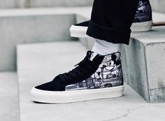 Discount Chaussure Vans NATIVE EMBROIDERY SK8 HI REISSUE V