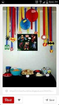 Decoration for superhero