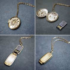 USB Flash Drive in a Locket!