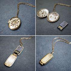 USB Necklace / Emily Rothschild