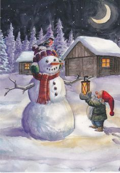 Nisse and Snowman