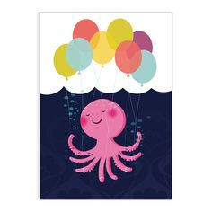 Octoloon greeting card - Folksy / Lisa Hunt
