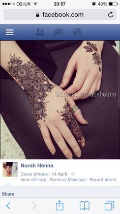 WOW such a beautiful and amazing henna design my favourite love it looks soo beautiful. Floral Henna Designs, Modern Mehndi Designs, Mehndi Design Pictures, Mehndi Designs For Girls, Wedding Mehndi Designs, Mehndi Designs For Fingers, Beautiful Henna Designs, Beautiful Mehndi, Henna Tattoo Designs