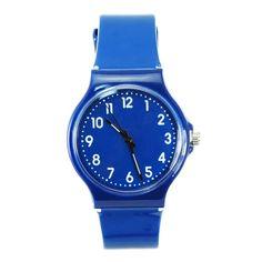 Refreshing Blue Plastic Dial Wrist Watch Refreshing Blue Plastic Dial Wrist Watch [51198] - US$4.52 : Aladdinmart