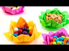 Paper Napkin Flowers - YouTube