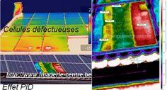 Exemples de visions thermiques sur panneaux solaire, PID