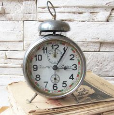 Rare AntiqueGerman Alarm Clock Gustav by ANTIQUEcountry on Etsy
