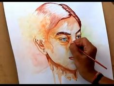 ▶ How To Paint A Girl Watercolor Portrait With Watercolors ( Time Lapse ) - YouTube