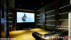 A Dreamvision home cinema in Delhi, India. www.dreamvision.net #homecinema #hometheater #projector