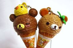 Rilakkuma Kawaii Ice Cream Chunky Pen Necklace  by DoodieBear, $10.00  http://www.etsy.com/shop/DoodieBear?page=3  She has some adorable stuff!