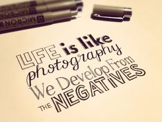 But it doesn't mean that the negatives in life don't suck, and it doesn't mean that the negatives are actually positive.