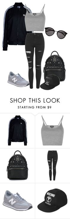"""Untitled #301"" by dimitrismatina ❤ liked on Polyvore featuring adidas Originals, Topshop, MCM, New Balance, Moschino and Yves Saint Laurent"