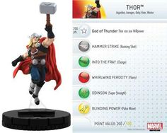 Thor #005 Marvel 10th Anniversary Heroclix Singles