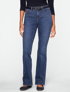 Talbots - Slimming Curvy Dusk Wash Bootcut Jeans | Jeans | Misses