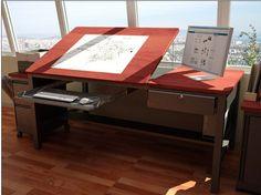 18 Trendy home office table art studios Art Studio Design, Art Studio At Home, Home Art, Artist Workspace, Home Office Table, Drawing Desk, Art Desk, Ideias Diy, Trendy Home