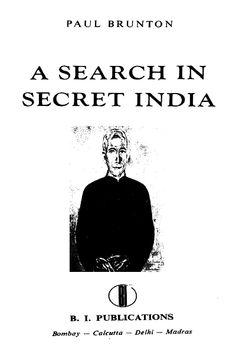 In secret paul india pdf a brunton search