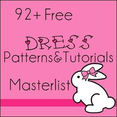 92 Free Patterns , Tutorials for little girls dresses Size newborn - 7years...